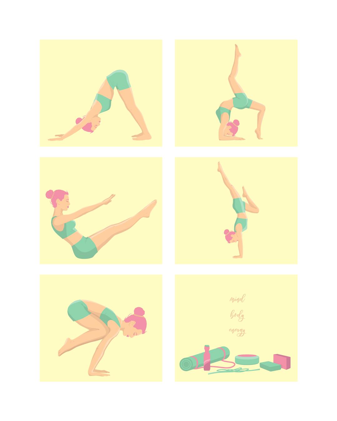 Mind body energy- illustration