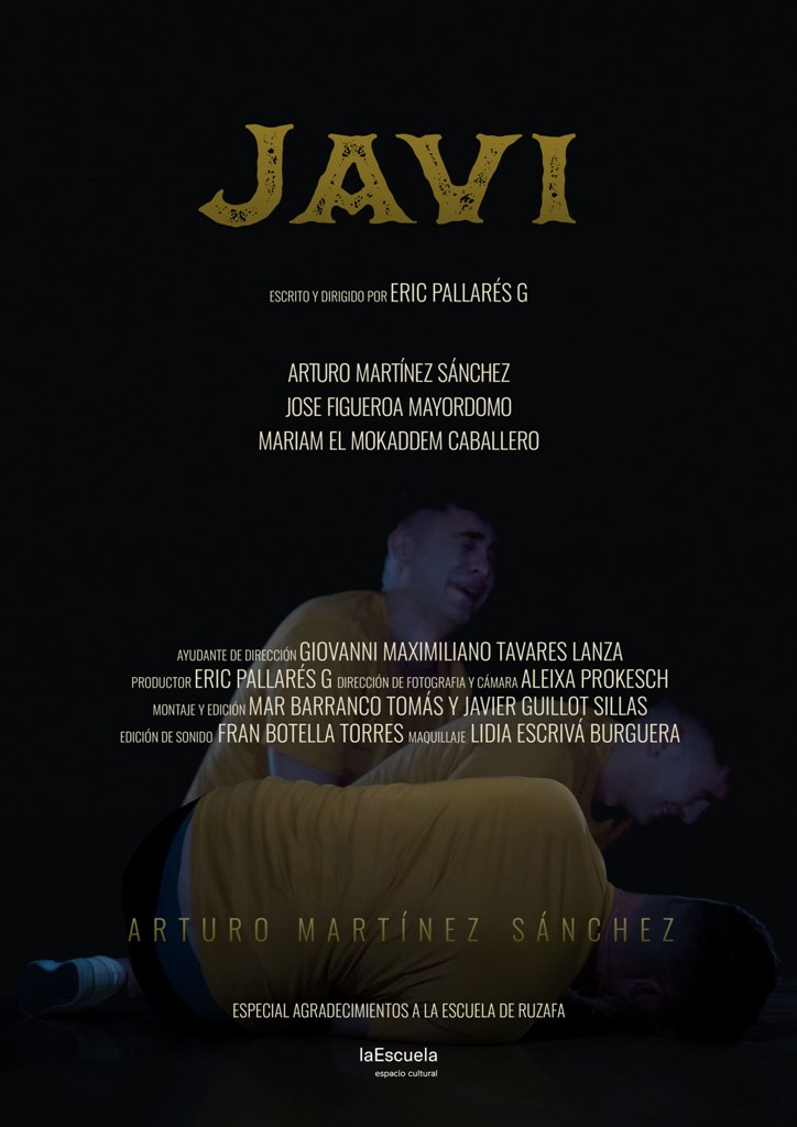 "Poster for Short film ""Javi"" - directed by Eric Parllarés G"